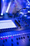 Professional audio-video-lighting mixer board Royalty Free Stock Photography