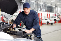 Professional auto mechanic. Stock Photos