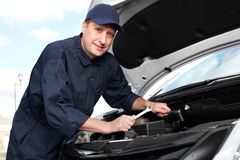 Professional auto mechanic. royalty free stock image