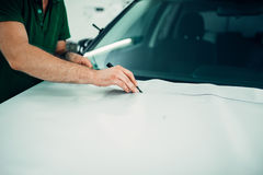 Professional automobile paint protection film Royalty Free Stock Image