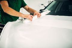 Professional automobile paint protection film Royalty Free Stock Photo