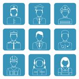 Professional avatar icons set Stock Image