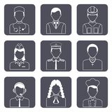 Professional avatar icons set Stock Photography