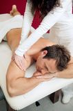Professional back massage Stock Photo