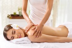 Professional back massage Stock Image