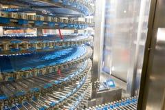 Professional bakery equipment, conveyor machine Royalty Free Stock Photos