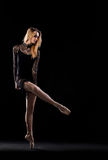 Professional ballet female dancer Stock Image