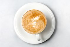 Professional barista coffee cup Royalty Free Stock Image