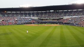 Professional baseball game