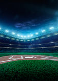 Professional Baseball Grand Arena In Night Royalty Free Stock Photos
