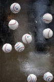 Professional Baseball League Baseballs in Ice Sculpture Stock Image
