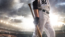 Professional baseball player in action Royalty Free Stock Photography