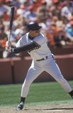 Professional Baseball player Will Clark up at bat, Candlestick Park, CA Royalty Free Stock Images