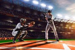 Professional baseball players on  grand arena Stock Image