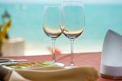 Professional beach restaurant Stock Image