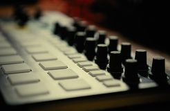Professional beat machine device for music composer royalty free stock photos