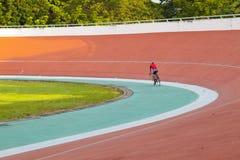 Velodrome. Professional beautiful cycle track. Velodrome Royalty Free Stock Photography