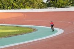Velodrome. Professional beautiful cycle track. Velodrome Royalty Free Stock Photo
