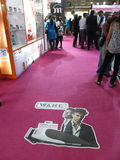 Professional Beauty Expo 2015. This is photo of wahl combany brand design on the floor venue is Bombay Exhibition Centre,Mumbai Date is 6th October 2015 stock photography