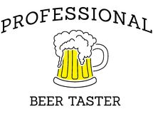 Professional beer taster Royalty Free Stock Image