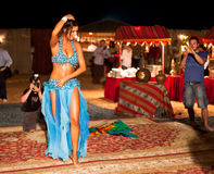 Professional Belly Dancer Being Shot Royalty Free Stock Photography