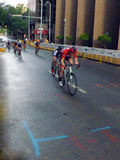 Professional Bicycling Racers Competing Stock Photo