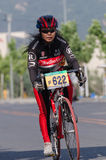 Professional bicycling racers Royalty Free Stock Photo