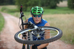 Free Professional Biker - Close Up Royalty Free Stock Photography - 15770327