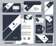 Professional black corporate identity template. Professional universal luxury branding design kit. Premium corporate identity template. Business stationery mock Royalty Free Stock Image