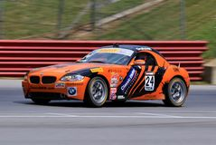 Professional BMW Z4 race car on the course royalty free stock photo