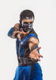 Professional bodyart Sub-Zero from Mortal Kombat. Professional make-up Sub-Zero from mortal kombat Royalty Free Stock Images
