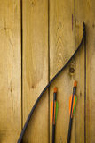 Professional bow with a set of arrows Royalty Free Stock Photography