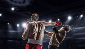 Professional box match . Mixed media Royalty Free Stock Photo