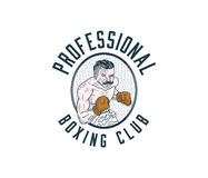 Professional boxer colored Stock Photo