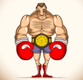 Professional boxer after a fight Stock Photography