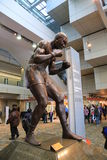 Professional Boxer Joe Louis Sculpture Stock Photos