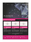 Professional Brochure, Template or Flyer design. Stock Photo