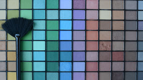 Professional brush with Pallette of shadows Royalty Free Stock Photography