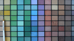 Professional brush with Pallette of shadows Royalty Free Stock Images