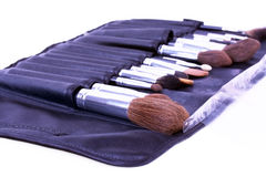 Professional brush's case of make-up artist Stock Image