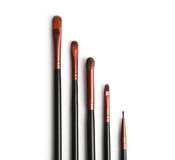 Professional brush set for makeup. Isolated on the white background Stock Photography