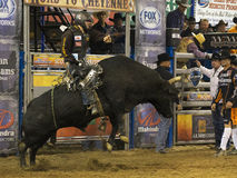 Professional Bull Riding Competition Royalty Free Stock Photography