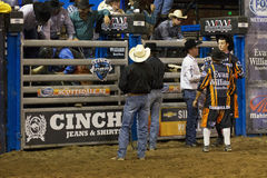Professional Bull Riding Competition Royalty Free Stock Image