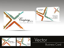 Professional business card. Abstract design professional business card with presentation Royalty Free Stock Photography
