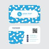 Professional business card vector design, Invitation card template modern design royalty free stock photos