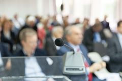 Professional or business conference. Corporate presentation. Stock Photos