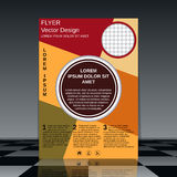 Professional business flyer template Royalty Free Stock Photography