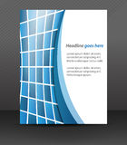 Professional business flyer template or corporate banner, cover design Royalty Free Stock Photo
