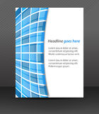 Professional business flyer template or corporate banner, cover design Stock Images