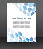 Professional business flyer template or corporate banner, cover design Royalty Free Stock Image